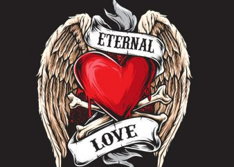 Eternal Love vector clipart