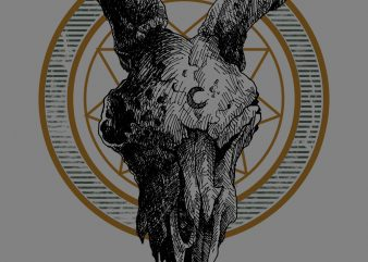 goat skull tshirt design t shirt vector
