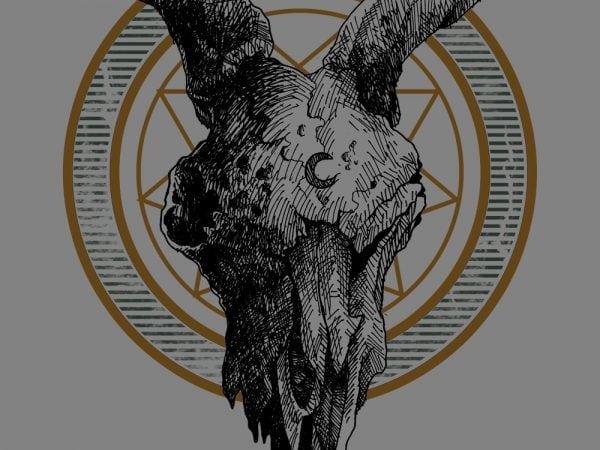 goat skull tshirt design