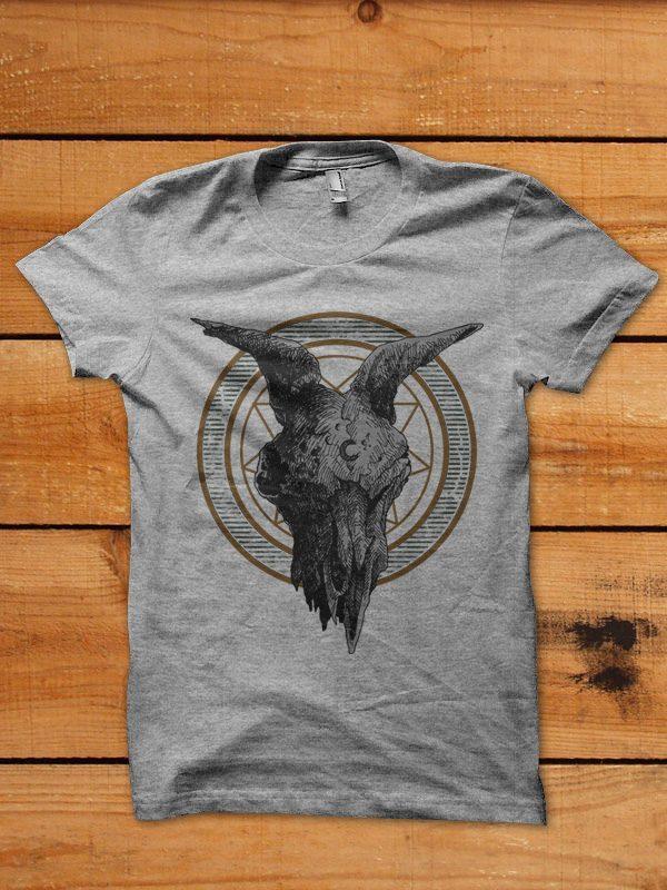 goat skull tshirt design buy t shirt design