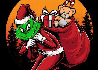 Grinch Stole Christmas buy t shirt design