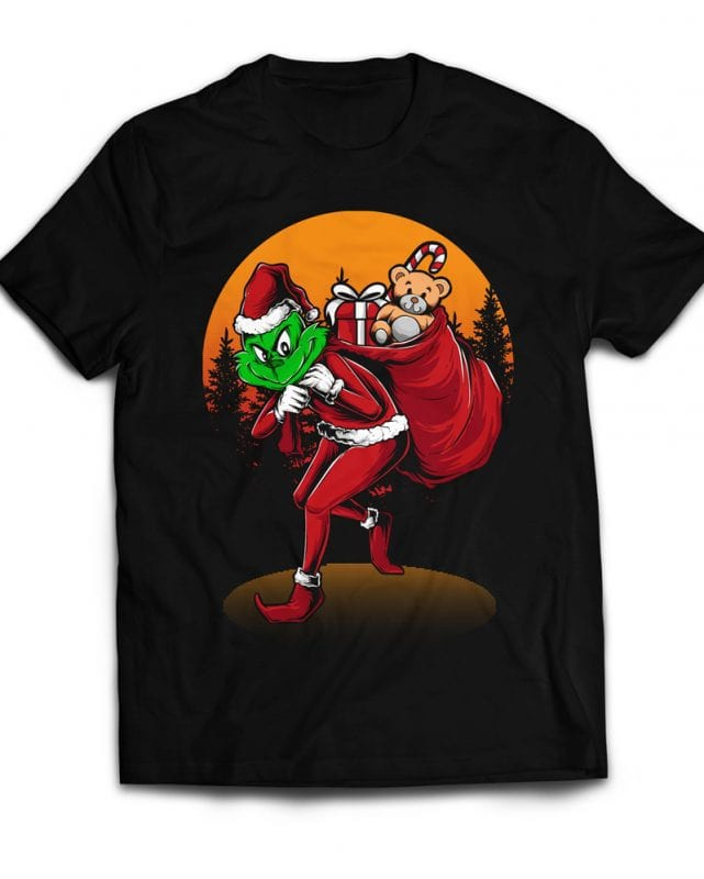 Grinch Stole Christmas buy t shirt design