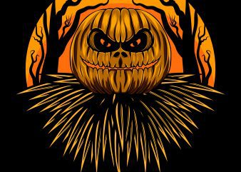 Halloween Pumpkin T-Shirt design template