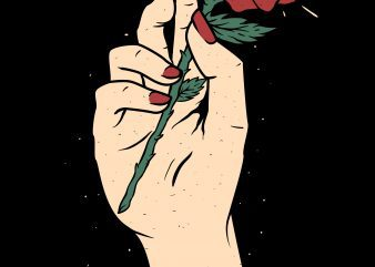 hand flower not knife illustrator buy t shirt design