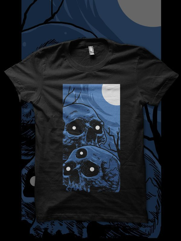 horror skull tshirt design buy t shirt design