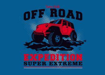 Off Road Car buy t shirt design
