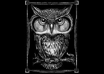 owl white illustrator buy t shirt design