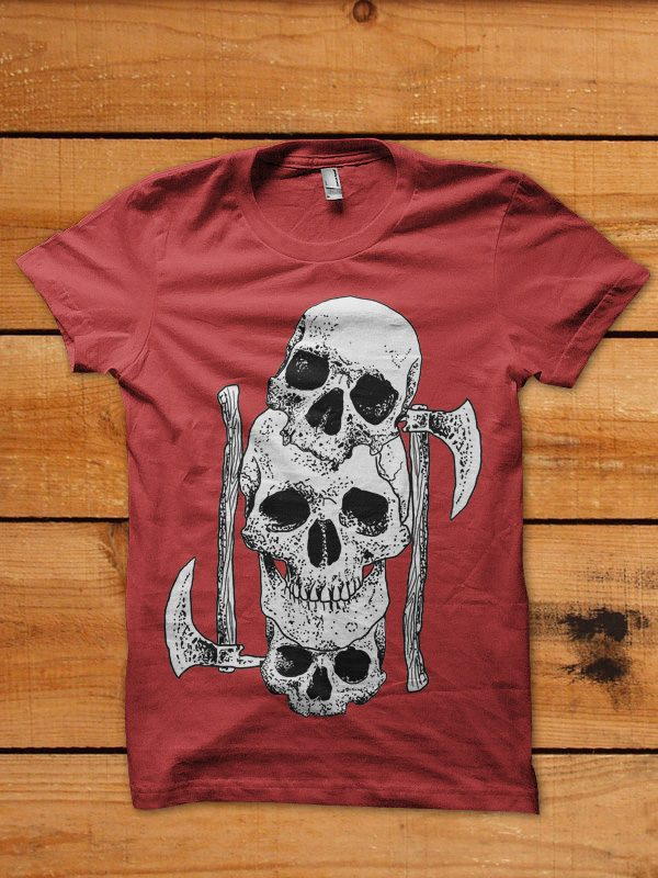 skull axe tshirt design buy t shirt design