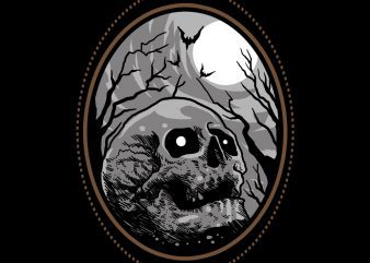skull horror tshirt design