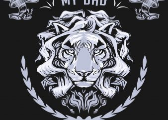 Tiger My Dad My Hero t shirt designs for sale