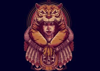 Tiger Queen Tshirt design