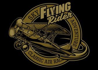 Flying Rider t shirt vector