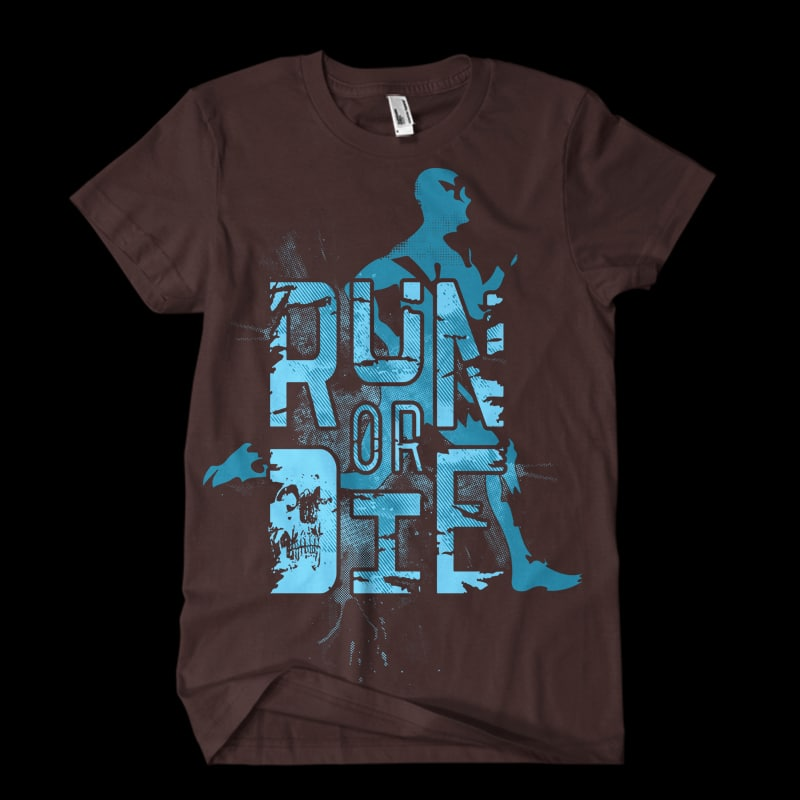 run or die Vector t-shirt design buy t shirt design