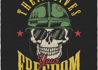Their lives your freedom. Vector T-Shirt Design buy t shirt design
