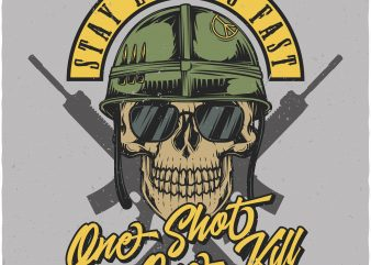 One shot One kill. Vector T-Shirt Design