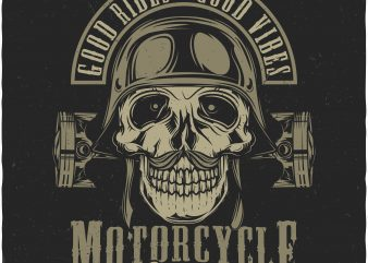 Good rides, Good vibes. Vector T-Shirt Design