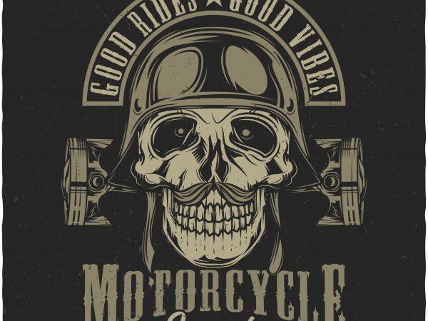 Good rides, Good vibes. Vector T-Shirt Design buy t shirt design