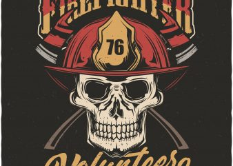 Firefighter volunteer t shirt graphic design