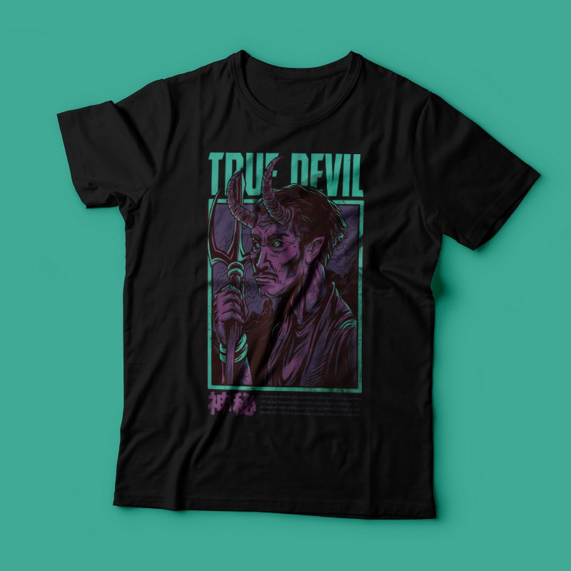 True Devils T-Shirt Design buy t shirt design