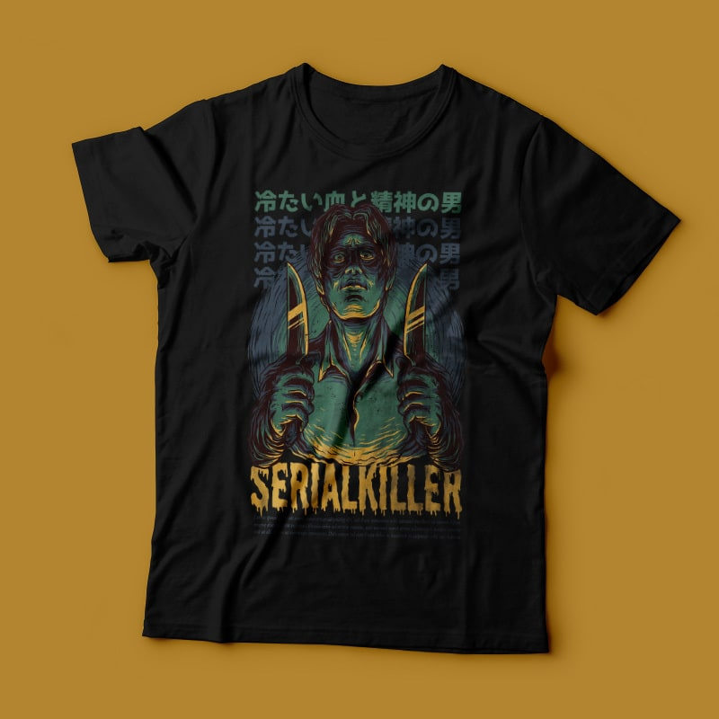 Serial Killer T-Shirt Design buy t shirt design