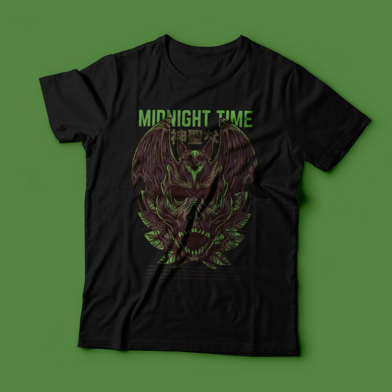 Midnight Time T-Shirt Design buy t shirt design