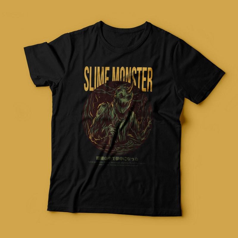 Slime Monster T-Shirt Design buy t shirt design
