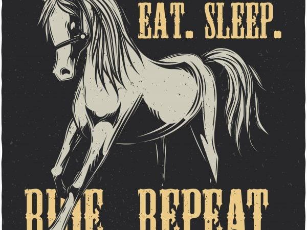 Eat. Sleep. Ride. Repeat. Vector T-Shirt Design buy t shirt design