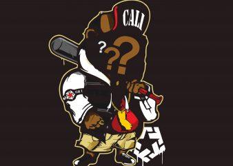 Baseball Cali t shirt template
