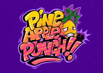 pineapple punch t shirt illustration