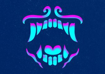 GLOWING TOOTH Graphic t-shirt design buy t shirt design
