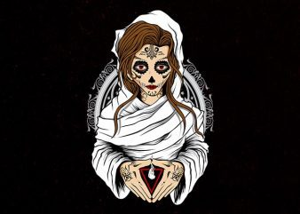 sugar nun Vector t-shirt design