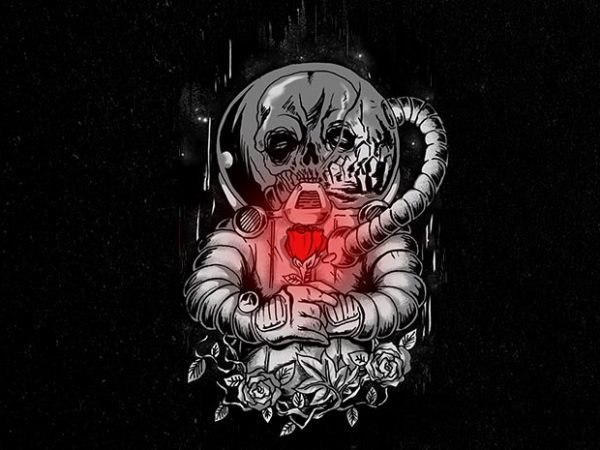 death in space Graphic t-shirt design