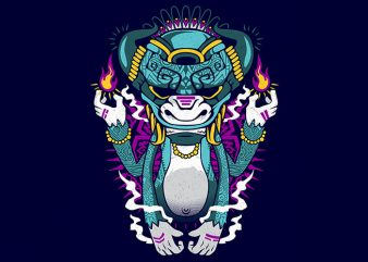 mysterious tiki Graphic t-shirt design