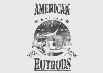 American Hotroad Car Tshirt Design buy t shirt design