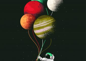 Astronaut Balloons buy t shirt design