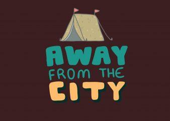 Away From City Camping Tshirt Design buy t shirt design