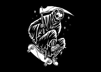 Grim Skater t shirt design template