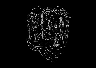 Let's Go Camping buy t shirt design