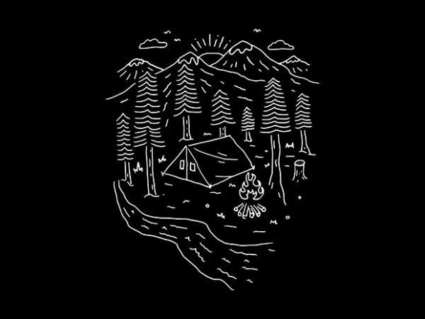 Let's Go Camping buy t shirt design