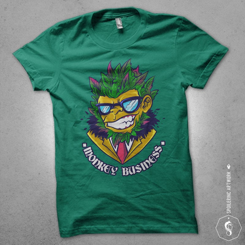 buds head monkey Graphic t-shirt design buy t shirt design