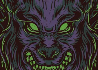 Wolves Night T-Shirt Design t shirt template