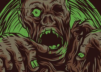 Walking Zombie T-Shirt Design buy t shirt design