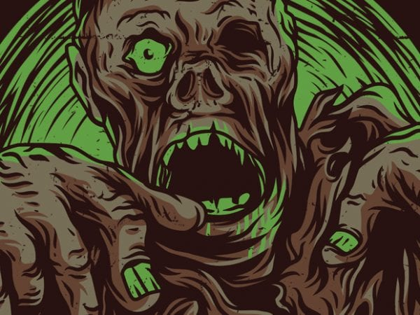 Walking Zombie T-Shirt Design