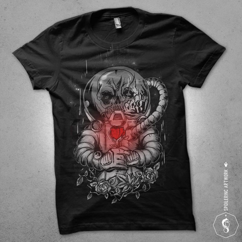 death in space Graphic t-shirt design buy t shirt design