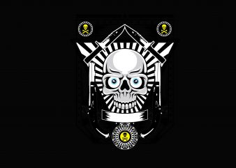 Army Mask Knife t shirt vector