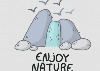 Enjoy Nature buy t shirt design