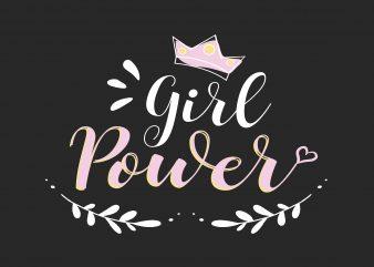 Girl Power t shirt design template