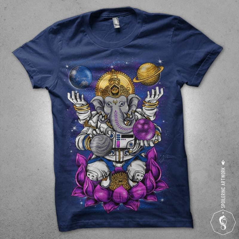 lord ganesha Graphic t-shirt design buy t shirt design