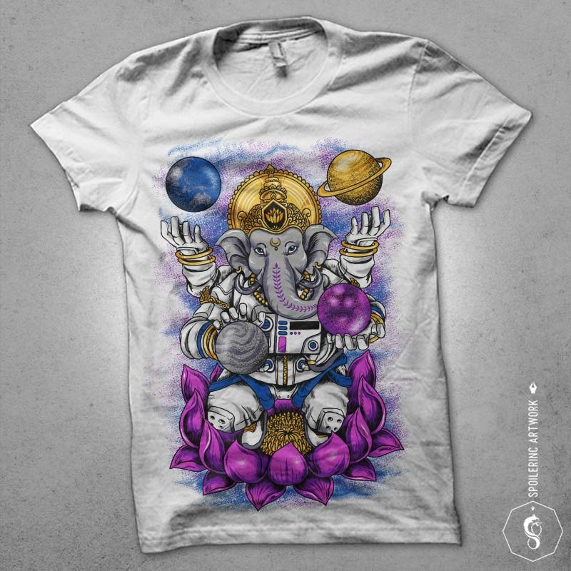 lord ganesha Graphic t-shirt design buy t shirt design
