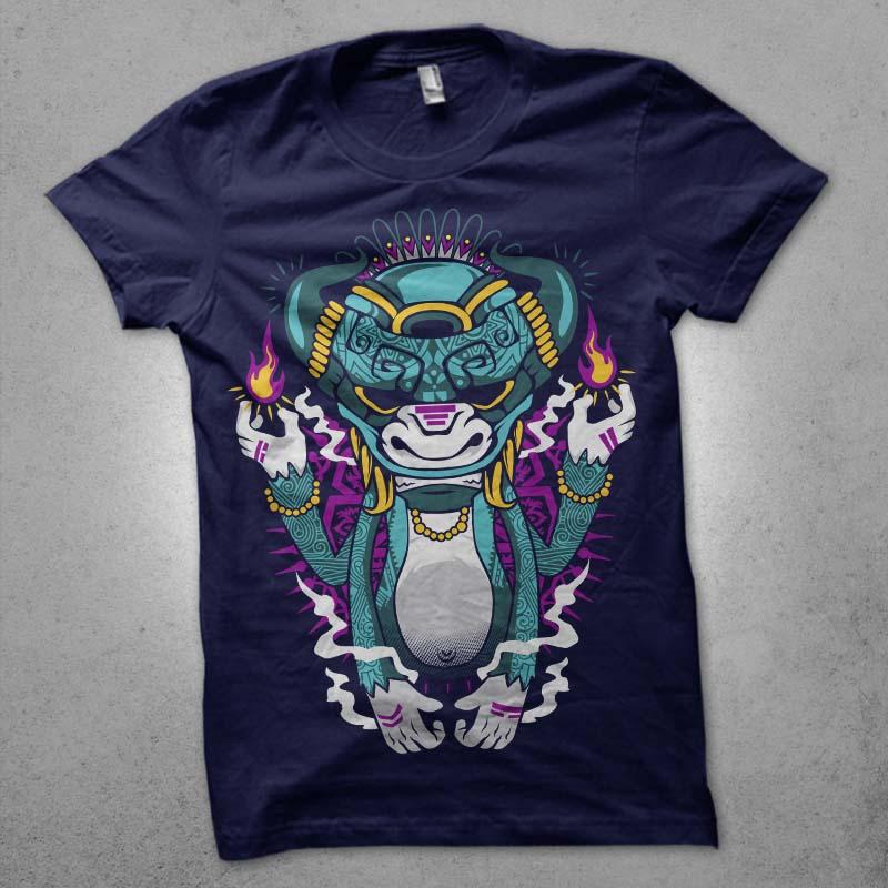 mysterious tiki Graphic t-shirt design buy t shirt design